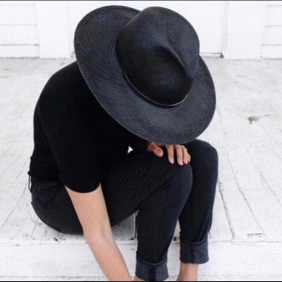 01be7506f Janessa Leone Black Straw Hat